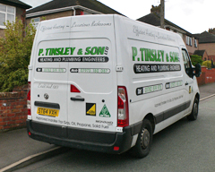 P Tinsley and Son - Heating Engineers Biddulph Moor - Stoke on Trent Staffordshire Logo